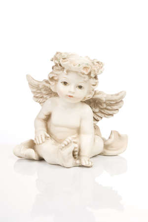 Figurine little white angel, front side