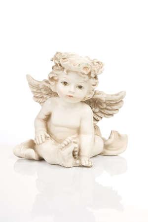 Figurine little white angel, front side