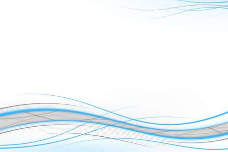 Blue & gray waves on white, background Stock Photo