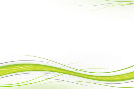 multimedia background: Green & gray waves on white, background