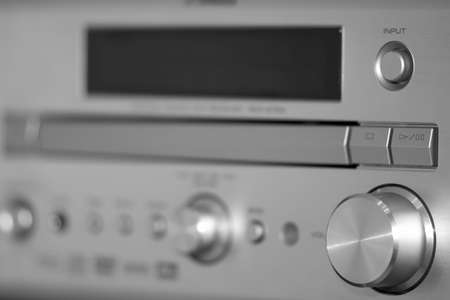 Steel silver receiver with knobs photo