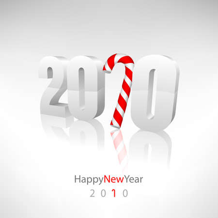 happy newyear: Vector greeting card 2010. Editable Illustration