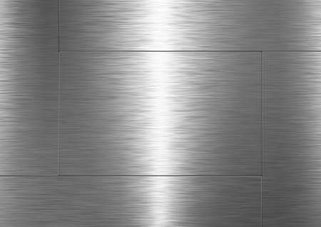 Background is made of brushed metal plate