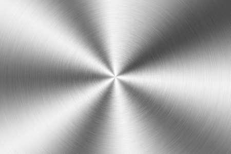 Brushed metal plate, circular Stock Photo - 6536781