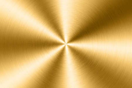 Brushed gold metal plate, circular