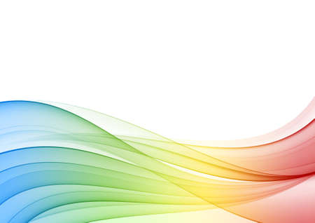 abstract waves: Abstract multicolor wave, background