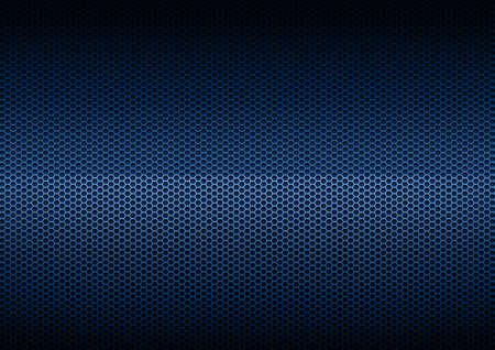 hexagon background: Blue Metal Plating, background