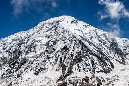 himalayas: Tilicho mountain in Himalayas Stock Photo