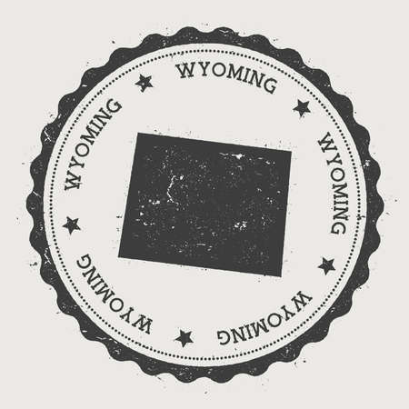 Wyoming Map Vector Stock Vector Illustration And Royalty Free - Wyoming us map