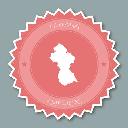 Co-operative Republic of Guyana badge flat design. Illustration
