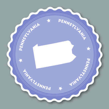 Pennsylvania sticker flat design.