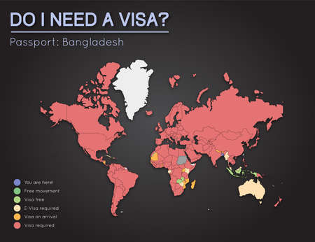 Visas information for peoples republic of bangladesh passport visas information for peoples republic of bangladesh passport holders year 2017 world map infographics gumiabroncs Gallery
