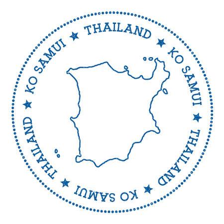 samui: Ko Samui map sticker. Illustration