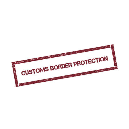 Customs border protection rectangular stamp.