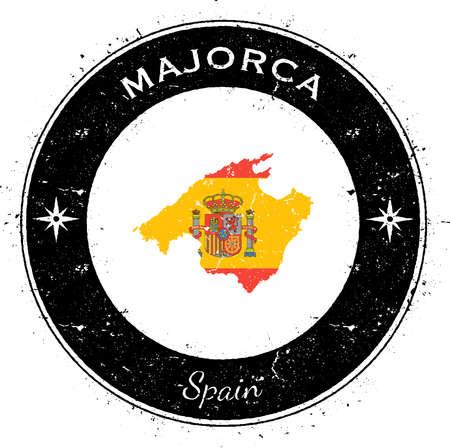 Majorca circular patriotic badge.