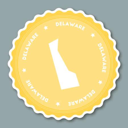 Delaware sticker flat design.