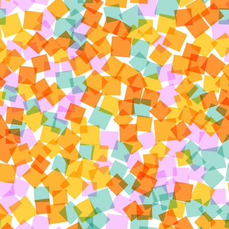 admirable: Abstract squares pattern. White geometric background. Admirable random squares. Geometric chaotic decor. Vector illustration. Illustration