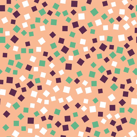 repeated: Abstract squares pattern. Pink geometric background. Gorgeous random squares. Geometric chaotic decor. Vector illustration.