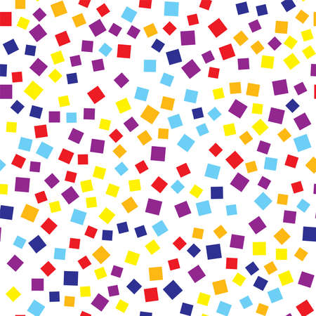 repeated: Abstract squares pattern. White geometric background. Exquisite random squares. Geometric chaotic decor. Vector illustration. Illustration