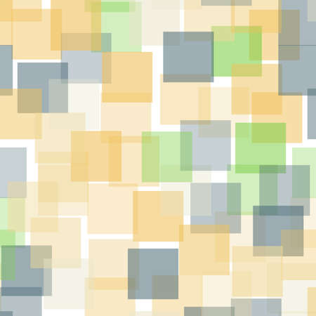 repeated: Abstract squares pattern. White geometric background. Amazing random squares. Geometric chaotic decor. Vector illustration.