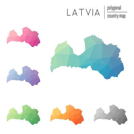 Latvia Map Outline Stock Vector Illustration And Royalty Free - Latvia map outline