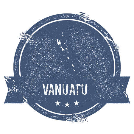 nationalist: Vanuatu mark. Travel rubber stamp with the name and map of Vanuatu, vector illustration. Can be used as insignia, logotype, label, sticker or badge of the country.