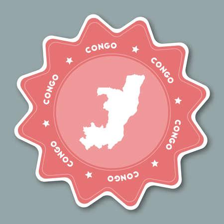 Congo map icon.