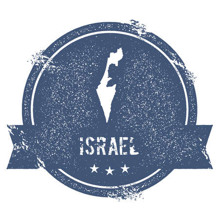 Israel map badge.