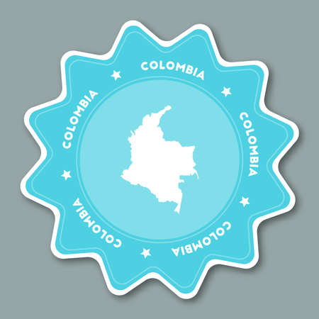 Colombia map icon.