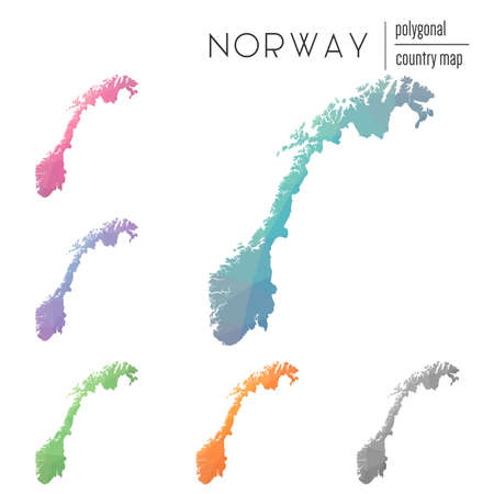 Set of Norway maps icon.