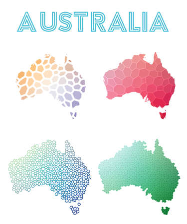 Set of Australia map icon.