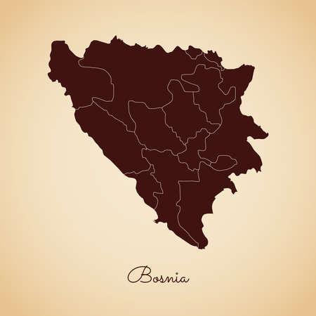 Bosnia region map.