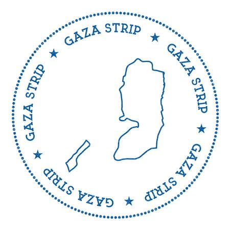Palestine vector map sticker.