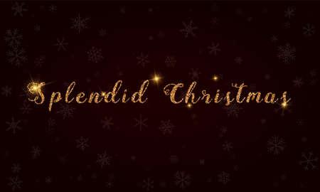 Splendid Christmas golden glitter typography.