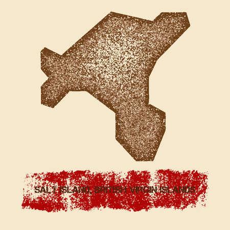 Salt Island, British Virgin Islands map icon. Illustration