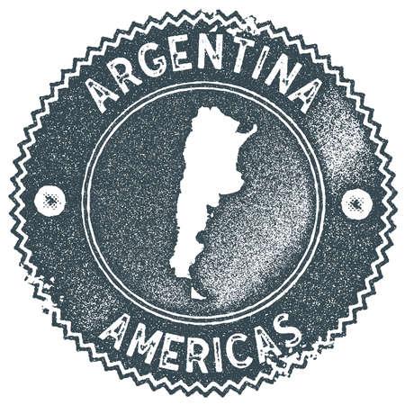 Argentina map vintage stamp.