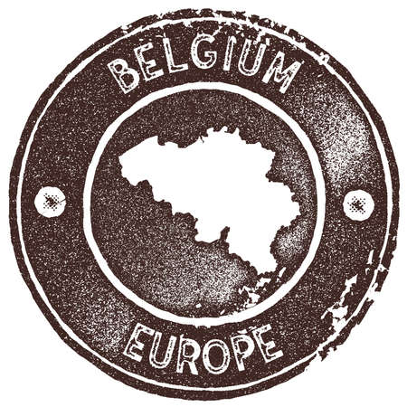 91882709 belgium map vintage stamp retro style handmade label badge or element for travel souvenirs brown rubber stamp with country map silhouette