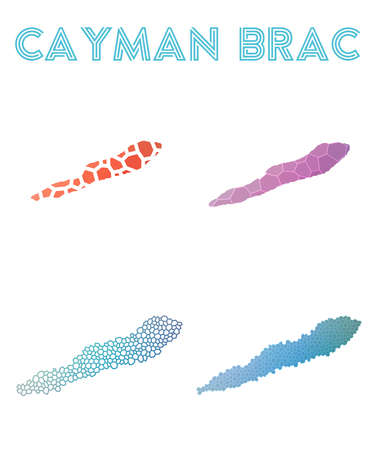 Set of Cayman Brac map icon.