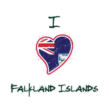 I love Falkland Islands icon. Çizim