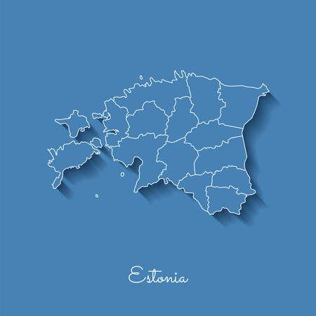 Estonia region map.