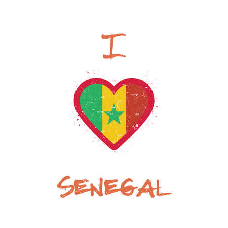 I love Senegal t-shirt design. Illustration
