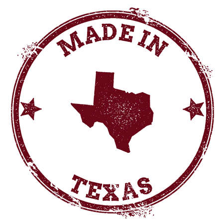 Texas Vector Seal Vintage Usa State Map Stamp Grunge Rubber