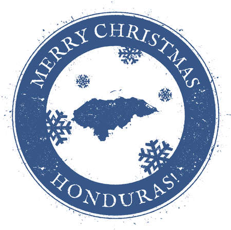 Vintage Merry Christmas Honduras Stamp 向量圖像
