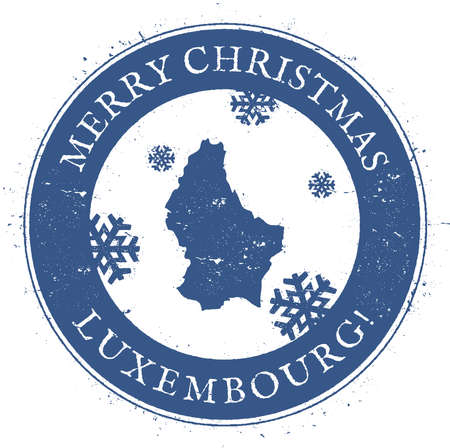 Vintage Merry Christmas Luxembourg Stamp