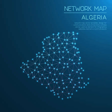 Algeria network map Stock Vector - 94021114