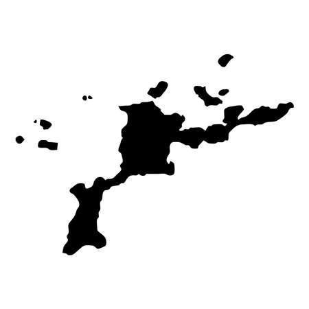 Virgin Gorda map. Island silhouette icon. Isolated Virgin Gorda black map outline. Vector illustration.