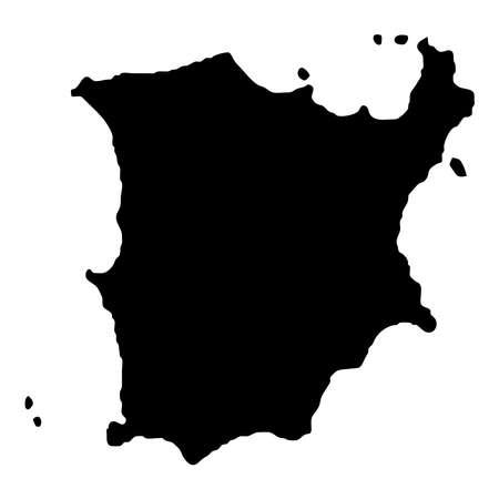 Ko Samui map. Island silhouette icon. Isolated Ko Samui black map outline. Vector illustration. Ilustracje wektorowe