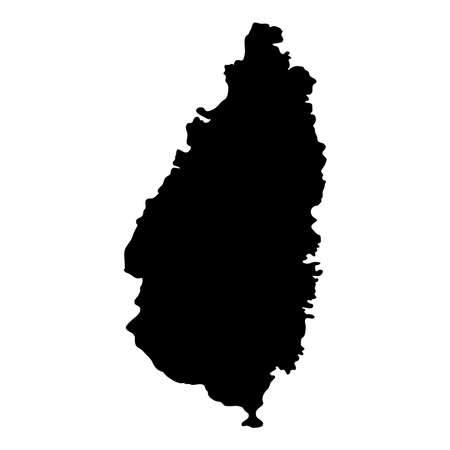 Saint Lucia map. Island silhouette icon. Isolated Saint Lucia black map outline. Vector illustration. Illustration