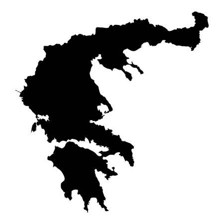 Lefkada map. Island silhouette icon. Isolated Lefkada black map outline. Vector illustration. Çizim