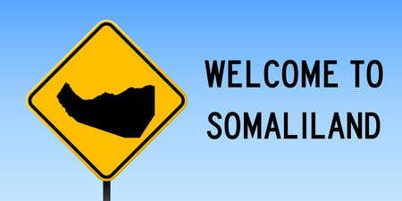 Somaliland map on road sign.